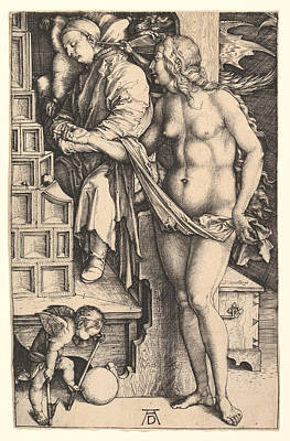 Drawing - The Dream Of The Doctor by Albrecht Duerer