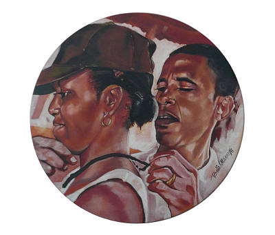 Barack Obama Oil Painting - The Dream Team by Belle Massey