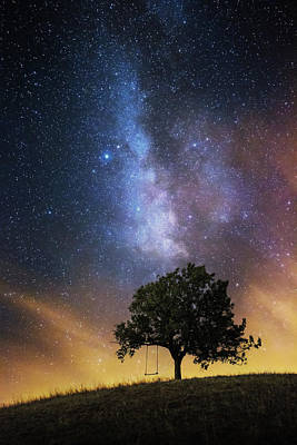 Milky Way Wall Art - Photograph - The Dreamer's Seat by Luk???? Ild??a
