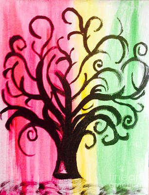 Colorful Tree Painting - The Dreaming Tree by Shawnic Coles