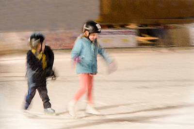 Photograph - The Dreams Of Little Skaters  by Susan McMenamin