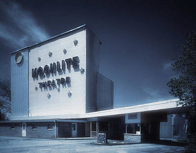 The Dreamy Moonlite Drive In Theatre Print by Mountain Dreams