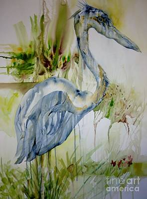 Painting - The Dripping Heron by Donna Acheson-Juillet