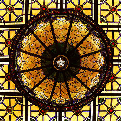 Photograph - The Driskill Hotel Ceiling by Judy Vincent