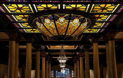 Photograph - The Driskill Hotel Lobby Ceiling by Judy Vincent