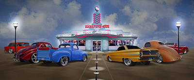The Drive In Art Print by Mike McGlothlen