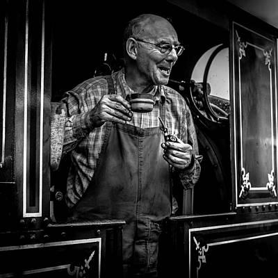 Locomotive Photograph - The Driver by Luis Borges Alves