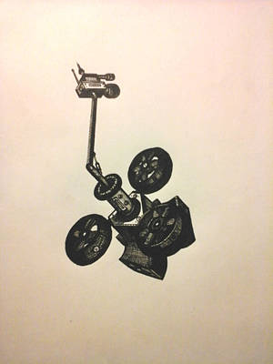 Drawing - The Drone by Richie Montgomery