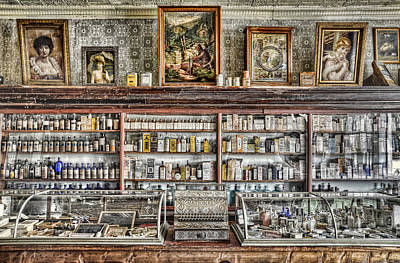 Photograph - The Drug Store Counter by Ken Smith