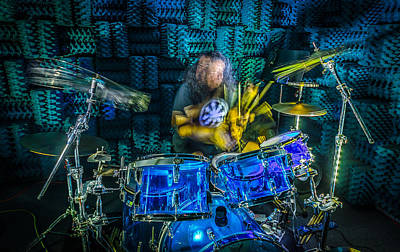 Music Royalty-Free and Rights-Managed Images - The Drummer by David Morefield