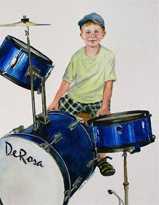 The Drummer Art Print
