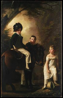 The Drummond Children Art Print by Sir Henry Raeburn