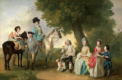 Banker Painting - The Drummond Family, Johan Joseph Zoffany by Litz Collection