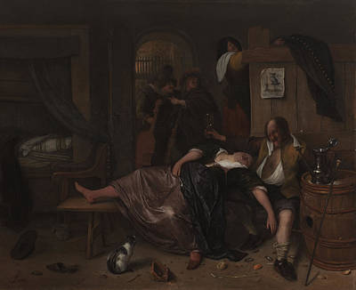 Drunken Drawing - The Drunken Couple, Jan Havicksz. Steen by Litz Collection