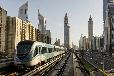 Photograph - The Dubai Metro by Muhammad Owais Khan