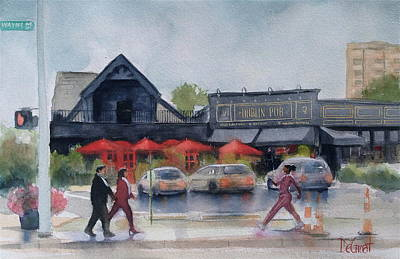 Painting - The Dublin Pub by Gregory DeGroat