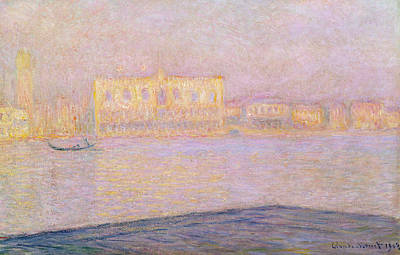 Italian Evening Painting - The Ducal Palace From San Giorgio, 1908 by Claude Monet
