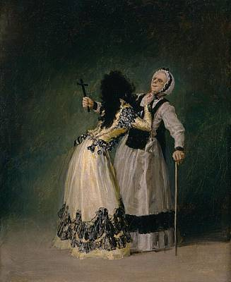 Duchess Painting - The Duchess Of Alba And Her Duenna by Francisco Goya