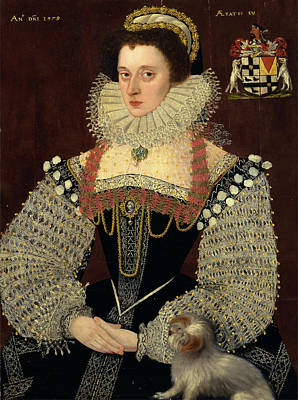 Gold Chain Painting - The Duchess Of Chandos Frances, Lady Chandos Inscribed by Litz Collection