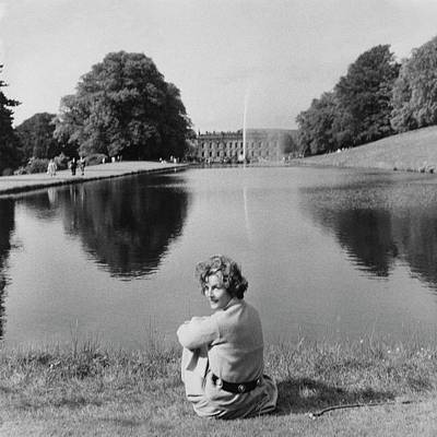 Photograph - The Duchess Of Devonshire At Devonshire Palace by Cecil Beaton