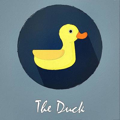 Painting - The Duck Cute Portrait by Florian Rodarte