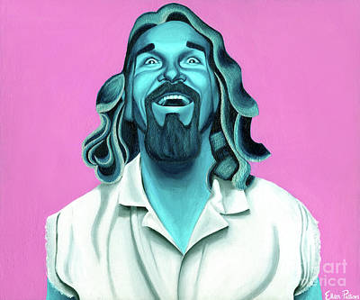 Big Lebowski Painting - The Dude by Ellen Patton