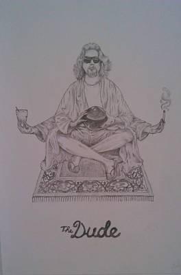 Lebowski Drawing - The Dude by Faadil Mustun