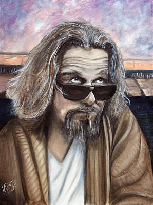 Jeff Bridges Painting - The Dude by James Kruse