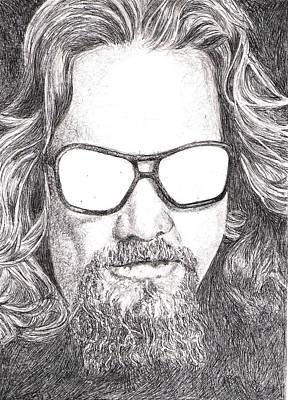 Lebowski Drawing - The Dude by Paul Smutylo