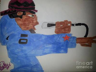 Hop Drawing - The Dude Rapper by Charita Padilla