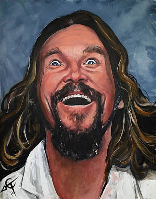 Jeff Bridges Painting - The Dude by Tom Carlton
