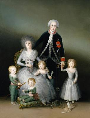 Duke And Duchess Painting - The Duke And Duchess Of Osuna And Their Children by Francisco Goya