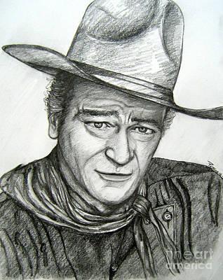 Art Print featuring the drawing The Duke John Wayne by Patrice Torrillo