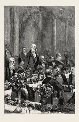 The Duke Of Cambridge Speaking At The Banquet In Honour Art Print