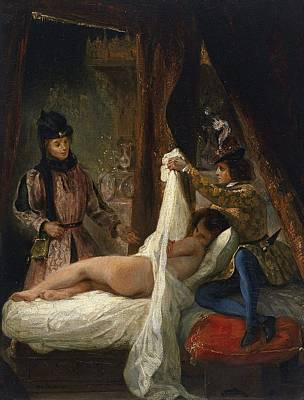 The Duke Of Orleans Showing His Lover Art Print