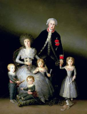 1807 Photograph - The Duke Of Osuna And His Family, 1788 Oil On Canvas by Francisco Jose de Goya y Lucientes