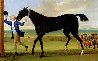 Bonny Painting - The Duke Of Rutlands Bonny Black, John Wootton by Litz Collection