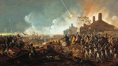The Battle Of Waterloo Painting - The Duke Of Wellington At La Haye Sainte. The Battle Of Waterloo by William Sadler