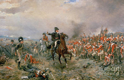 The Duke Of Wellington At Waterloo Art Print by Robert Alexander Hillingford