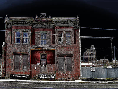 Prostitution Photograph - The Dumas Brothel - Butte Montana by Daniel Hagerman