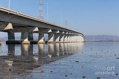 Bay Area Photograph - The Dumbarton Bridge In The South Bay Area California 5dimg2652 by Wingsdomain Art and Photography