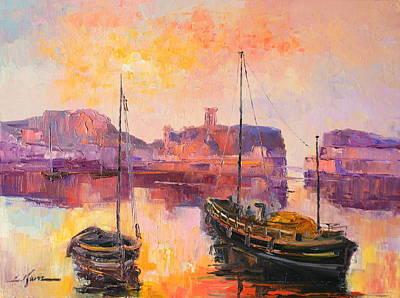 The Dunbar Harbour Art Print