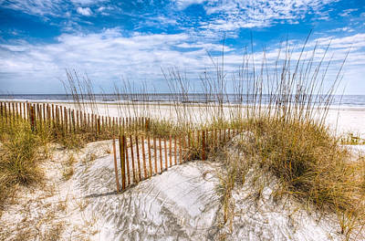 Sunrise At The Beach Photograph - The Dunes by Debra and Dave Vanderlaan