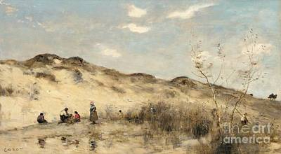 The Dunes Of Dunkirk Art Print by Jean Baptiste Camille Corot