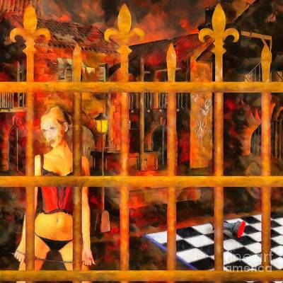 Digital Art - The Dungeon - Games People Play by Liane Wright