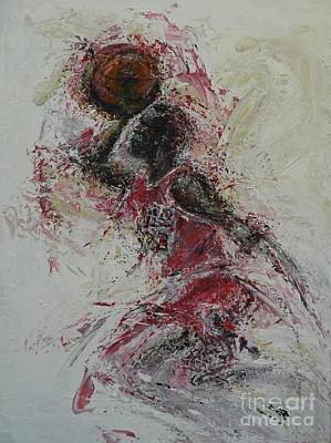 Basketball Abstract Painting - The Dunk  by Dan Campbell
