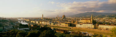The Duomo & Arno River Florence Italy Art Print by Panoramic Images