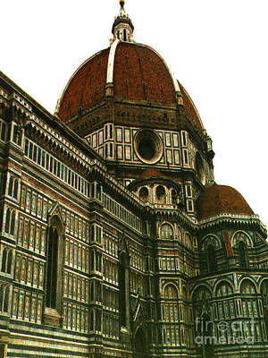 Photograph - The Duomo Cathedral Florence Italy by Merton Allen
