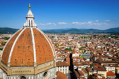 Rooftop Photograph - The Duomo Dome And Rooftops by Russ Bishop