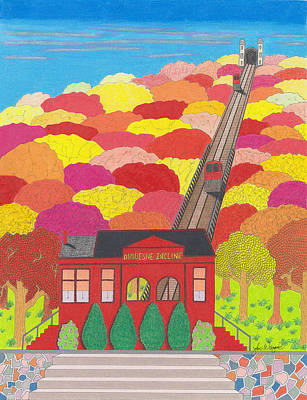 The Duquesne Incline  Art Print by John Wiegand